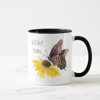World's Best Grandma Butterfly, Flowers-Gardening Mug