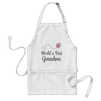 World's Best Grandma Butterfly Gift Standard Apron