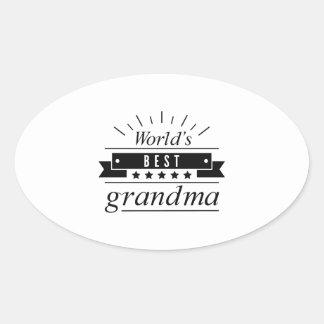 World's Best Grandma Oval Sticker