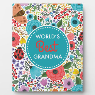World's Best Grandma Plaque