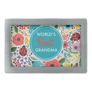 World's Best Grandma Rectangular Belt Buckle