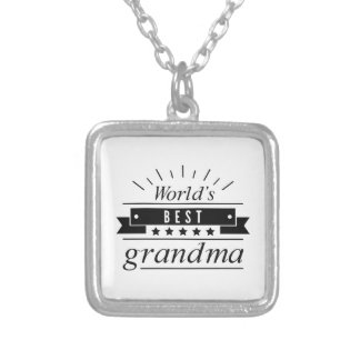World's Best Grandma Silver Plated Necklace
