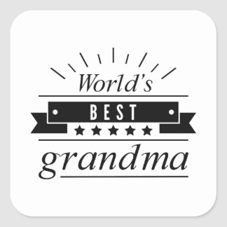 World's Best Grandma Square Sticker