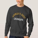 World's Best Grandpa Embroidered Hoodie