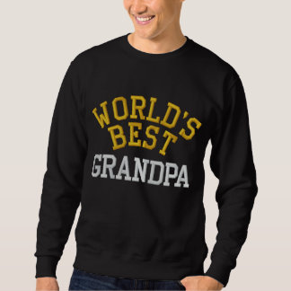 World's Best Grandpa Embroidered Sweatshirt