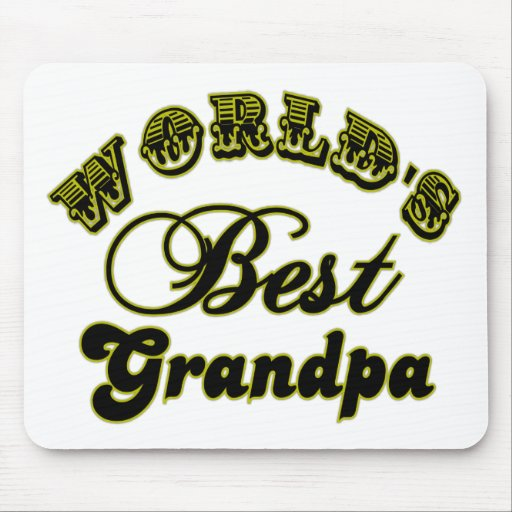 World's Best Grandpa Gifts and Apparel Mouse Pads