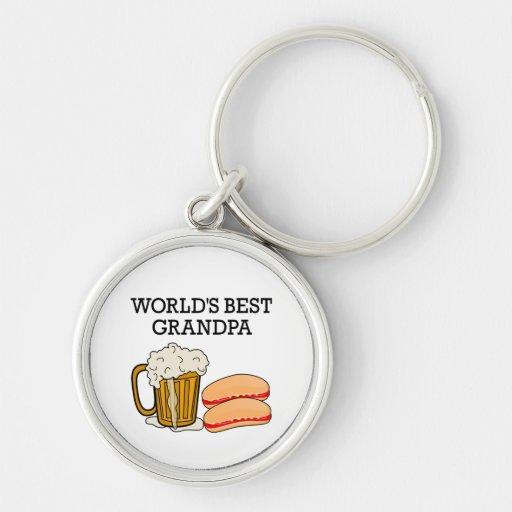 Worlds Best Grandpa Keychain