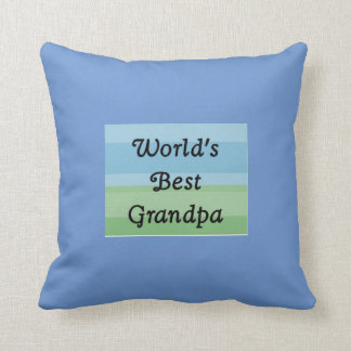 World's best grandpa pillow