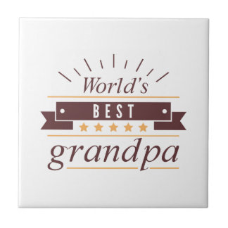 World's Best Grandpa Tile