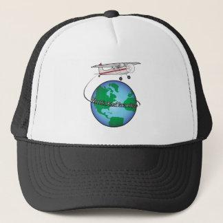 World's Best Grandpa with Airplane Trucker Hat