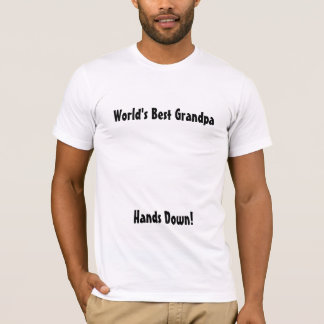 World's Best Grandpa (without handprints) Shirt