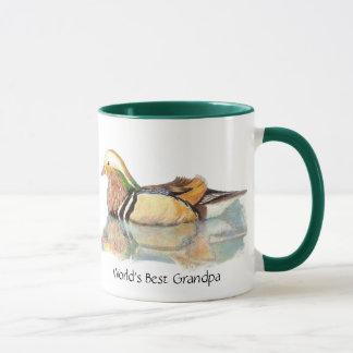 World's Best Grandpa  Wood duck, Nature, Bird Mug