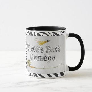 WORLD'S BEST GRANDPA- ZEBRA PRINT -MUG MUG