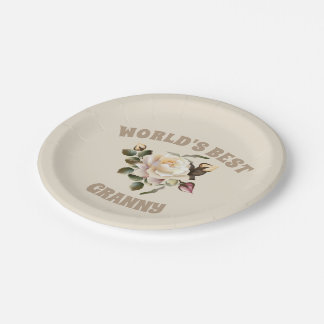 World's Best Granny 7 Inch Paper Plate
