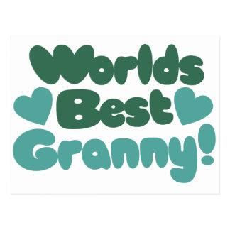 Worlds Best Granny Postcard