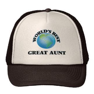 World's Best Great Aunt Trucker Hat