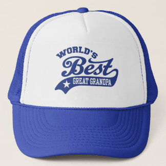 World's Best Great Grandpa Trucker Hat