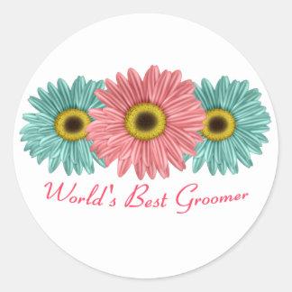 World's Best Groomer Round Sticker