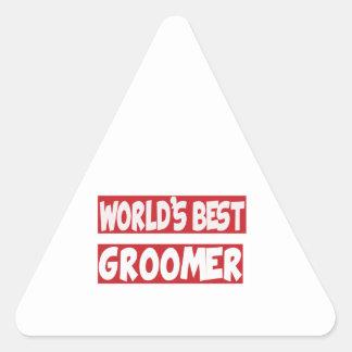 World's Best Groomer. Triangle Sticker