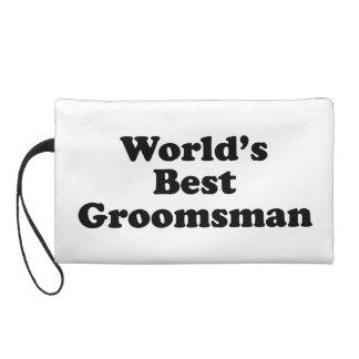 World's Best Groomsman Wristlet Clutches