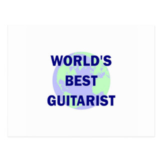 World's Best Guitarist Postcard