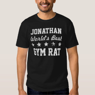 World's Best GYM RAT Grunge Stars Name A18 Tshirts