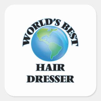 World's Best Hair Dresser Square Sticker