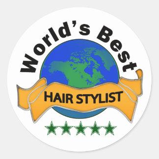 World's Best Hair Stylist Classic Round Sticker