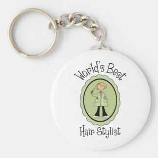 World's Best Hair Stylist Tees and Gifts Keychain