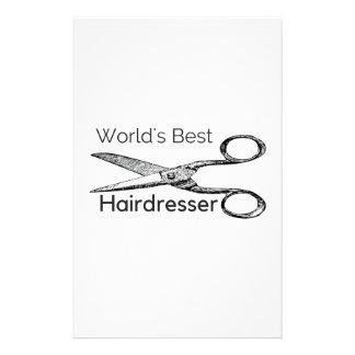 World's best hairdresser custom stationery