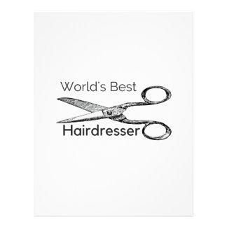 World's best hairdresser letterhead