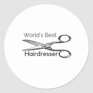World's best hairdresser round sticker