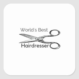 World's best hairdresser square sticker