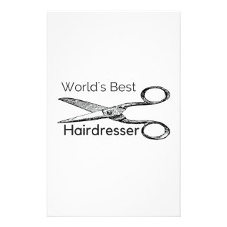 World's best hairdresser stationery