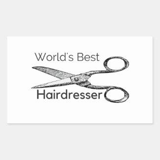 World's best hairdresser sticker
