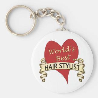 World's Best Hairstylist Keychain