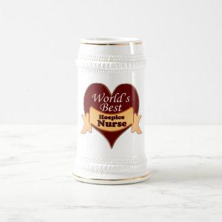 World's Best Hospice Nurse Beer Stein