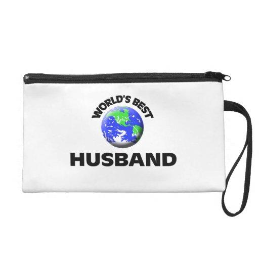 World's Best Husband Wristlet Clutch