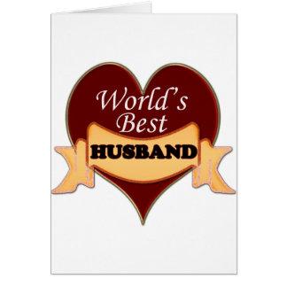 World's Best Husband Card