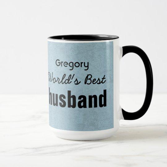 World's Best HUSBAND Green and Black Stripes V01 Mug
