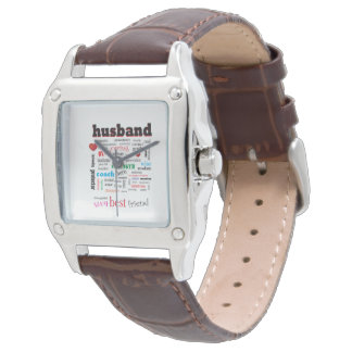Worlds Best Husband Word Cloud Watch