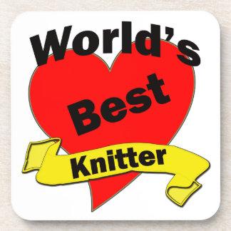 World's Best Knitter Coaster
