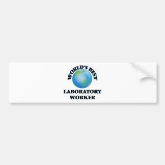 World's Best Laboratory Worker Bumper Sticker