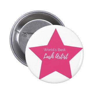 World's best lash artist 2 inch round button