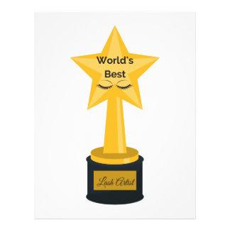 World's Best Lash Artist! Customized Letterhead