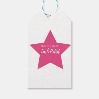 World's best lash artist gift tags