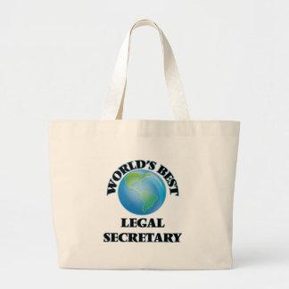 World's Best Legal Secretary Jumbo Tote Bag