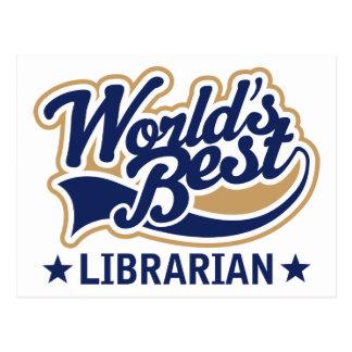 Worlds Best Librarian Gift Postcard