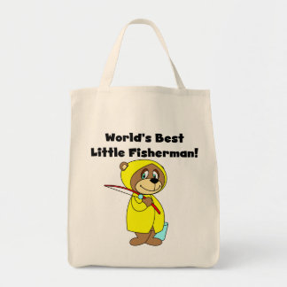 World's Best Little Fisherman Tshirts and Gifts Tote Bag