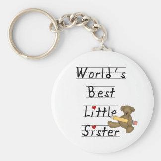 World's Best Little Sister Basic Round Button Keychain